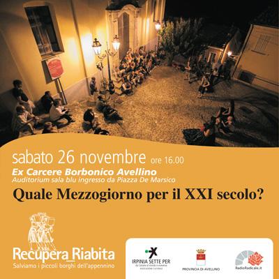 Quale mezzogiorno nel xxi secolo associazione irpinia7x for Diretta radio radicale tv